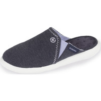 Chaussures Femme Chaussons Isotoner Chaussons mules femme ultra légers bleu