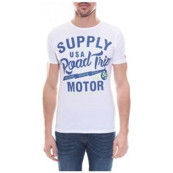 Vêtements Homme T-shirts manches courtes Ritchie T-shirt col rond en coton NELSON Blanc