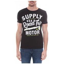 Vêtements Homme T-shirts manches courtes Ritchie T-shirt col rond en coton NELSON Noir