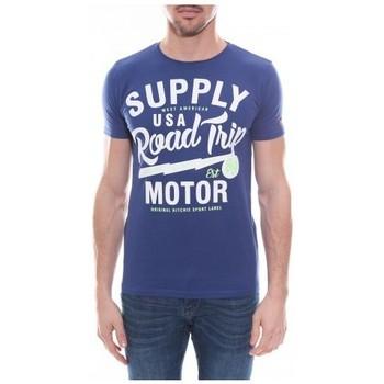 Vêtements Homme T-shirts manches courtes Ritchie T-shirt col rond en coton NELSON Royal