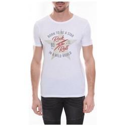 Vêtements Homme T-shirts manches courtes Ritchie T-shirt col rond NESMY Blanc