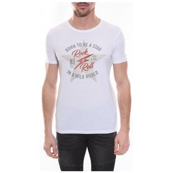 Vêtements Homme T-shirts manches courtes Ritchie T-shirt col rond NESMY Blanc