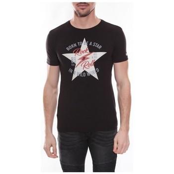 Vêtements Homme T-shirts manches courtes Ritchie T-shirt col rond NESMY Noir