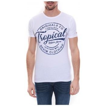 Vêtements Homme T-shirts manches courtes Ritchie T-shirt col rond NEVILLE Blanc