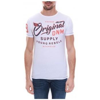Vêtements Homme T-shirts manches courtes Ritchie T-shirt col rond en coton NEWTON Blanc