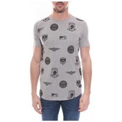 Vêtements Homme T-shirts manches courtes Ritchie T-shirt oversize col rond en coton stretch NIKOS Gris