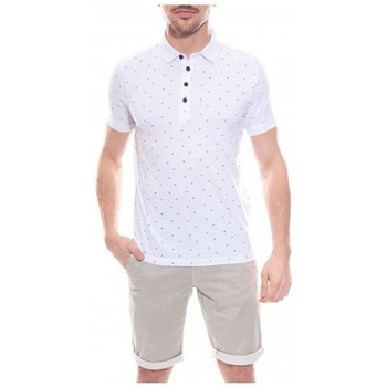 Vêtements Homme Polos manches courtes Ritchie Polo en coton POPSKY Blanc