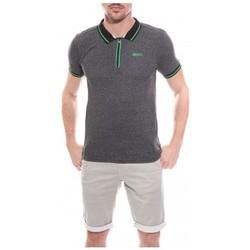 Vêtements Homme Polos manches courtes Ritchie Polo col zippé en coton PROVO Noir