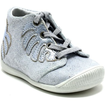 Chaussures Fille Baskets montantes Little Mary DEFEUILLE ARGENT