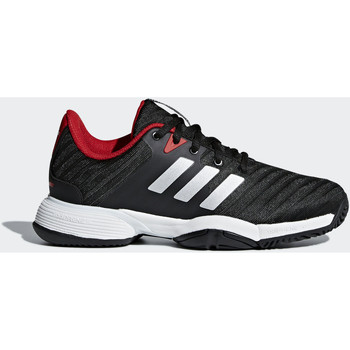 Chaussures Enfant Baskets basses adidas Performance Chaussure Barricade 2018 Noir / Argent / Rouge