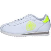 Chaussures Femme Baskets basses Blauer chaussures femme  sneakers blanc cuir jaune AB816 blanc