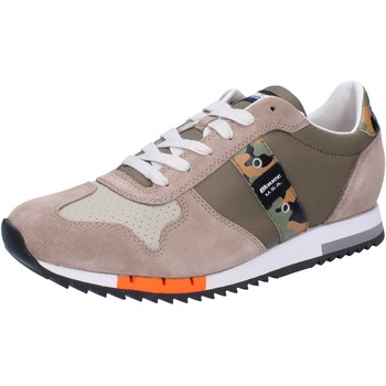 Chaussures Homme Baskets basses Blauer chaussures homme  sneakers vert textile beige daim AB820 vert