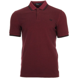 Vêtements Homme Polos manches courtes Fred Perry Twin Tipped Shirt rouge