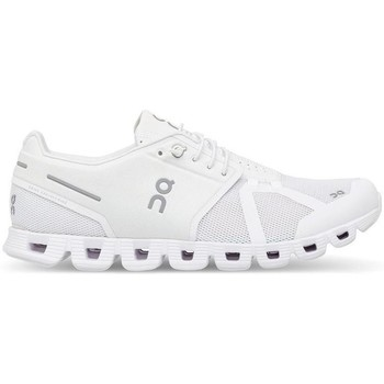 Chaussures Baskets mode On Running ONCLOUD WOMAN ALL WHITE Blanc