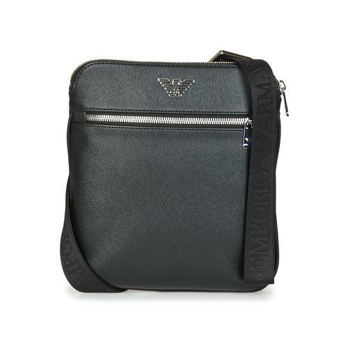 Sacs Homme Pochettes / Sacoches Emporio Armani BUSINESS FLAT MESSENGER BAG Noir
