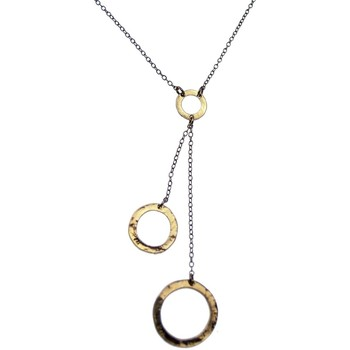 Montres & Bijoux Femme Colliers / Sautoirs Pya Collier motif pendentif pendulaire rond collection PHOEBE Or