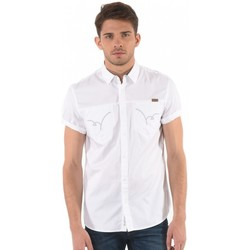 Vêtements Homme Chemises manches courtes Kaporal Chemise Homme Manches Courtes Piv Blanc 1