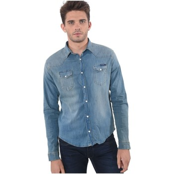Vêtements Homme Chemises manches longues Kaporal Chemise en Jeans Homme Salto Bleu Ciel 19
