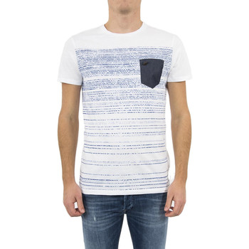 Vêtements Homme T-shirts manches courtes Salsa tee shirt  119471 palm beach blanc blanc