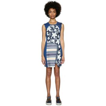 Vêtements Femme Robes Desigual Robe No Sleep Denim Dark Blue 18SWVD14 19