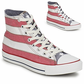 Chaussures Baskets montantes Converse ALL STAR SPECIALTY USA FLAG HI BLANC/ROUGE/BLEU