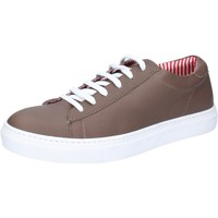 Chaussures Homme Baskets basses Di Mella chaussures homme  sneakers beige cuir BZ07 beige
