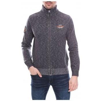 Vêtements Homme Gilets / Cardigans Ritchie Gilet zippé col cheminée en coton ANTONIO Gris
