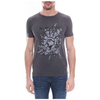 Vêtements Homme T-shirts & Polos Ritchie T-shirt col rond en coton NAPOLEON Gris