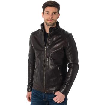 Vêtements Homme Vestes en cuir / synthétiques Daytona ALF SHEEP TIGER REDISH BROWN Marron foncé