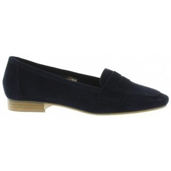 Chaussures Femme Mocassins We Do Mocassins cuir velours Marine