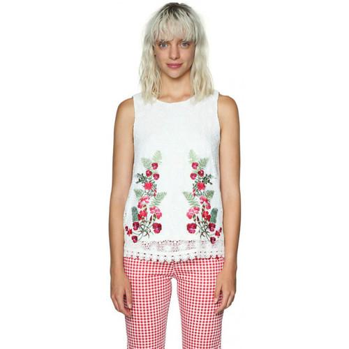 Vêtements Femme Tops / Blouses Desigual T Shirt Be Sweet Beige 18SWBW27 6887