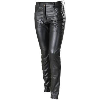 Vêtements Pantalons Pallas Cuir Pantalon en cuir  sélection ref_reg33511-noir Noir