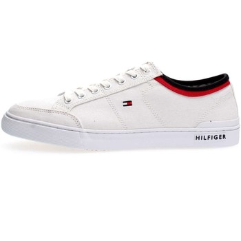 Chaussures Homme Baskets basses Tommy Hilfiger FM0FM00543CO TEXTILE SNEAKER SNEAKERS Homme WHITE WHITE