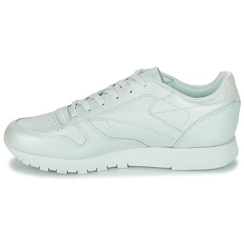 Reebok Classic Leather Vert - Livraison Gratuite- Chaussures Baskets Basses Femme 7196 q5g3s