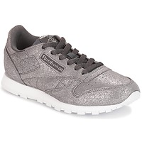 Chaussures Fille Baskets basses Reebok Classic CLASSIC LEATHER J Gris métallique