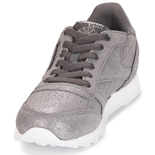 J Gris Baskets Basses Chaussures Classic Reebok Leather Métallique Fille 0PwkXn8O