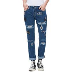Vêtements Femme Jeans droit Obey THE NEMESIS Bleu