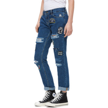 Vêtements Droit Bleu Femme Obey Jeans The Nemesis uPZwOXiTlk