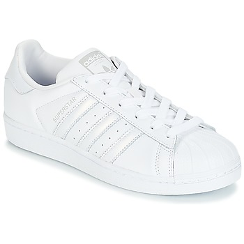 cheap for discount fe512 7be10 Chaussures Femme Baskets basses adidas Originals SUPERSTAR W Blanc  Argenté