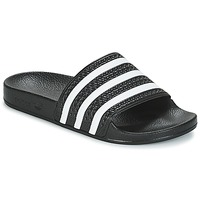 Chaussures Baskets basses adidas Originals ADILETTE Noir / blanc