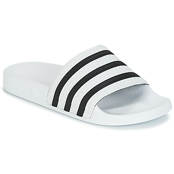 Chaussures Baskets basses adidas Originals ADILETTE Blanc / Noir