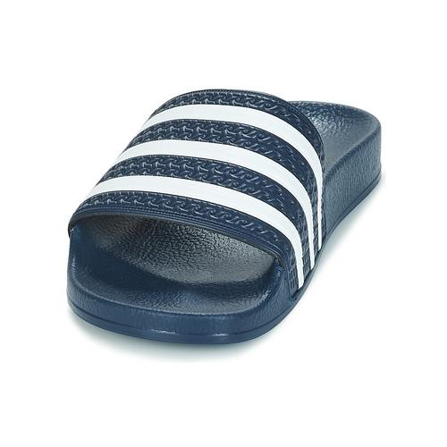 Adidas Originals Adilette Marine / Blanc - Livraison Gratuite- Chaussures Claquettes 3230 Vl5O7