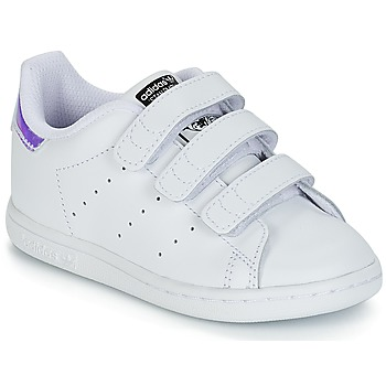 quality design 99259 526ba Chaussures Fille Baskets basses adidas Originals STAN SMITH CF I Blanc    argente
