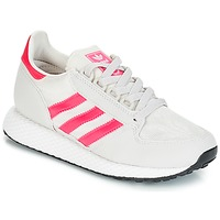 Chaussures Fille Baskets basses adidas Originals OREGON J Blanc / rose