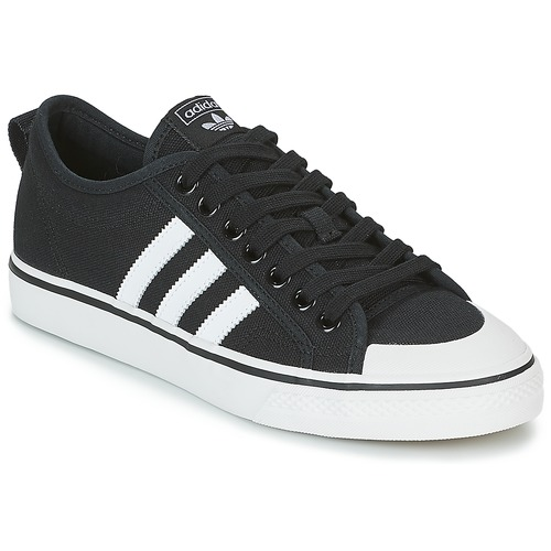 quality design 25373 54460 Chaussures Baskets basses adidas Originals NIZZA Noir   Blanc