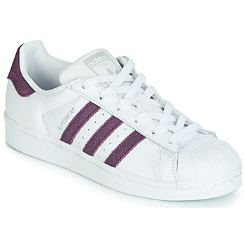 Chaussures Femme Baskets basses adidas Originals SUPERSTAR W Blanc / Violet