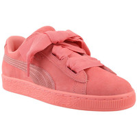 Chaussures Fille Baskets basses Puma Suede Heart Snake Junior - Ref. 364918-05 Rose