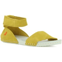 Chaussures Fille Sandales et Nu-pieds The Art Company A276 SUEDE RESIN CORN/ PADDLE Jaune