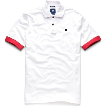 Vêtements Homme Polos manches courtes G-Star Raw RC CORE POLO S Blanc