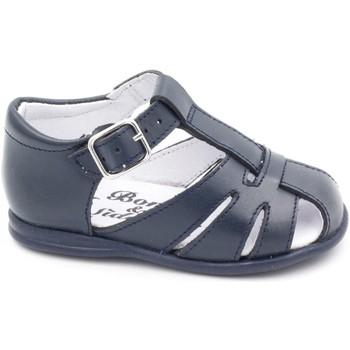 Chaussures Enfant Sandales et Nu-pieds Boni Classic Shoes Sandales en cuir à boucles - LOU II Bleu Marine